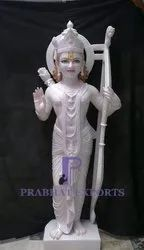 Gold Plated Marble Lord Ram Statue