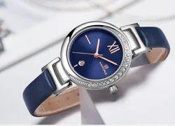 Round NF5007 Naviforce Luxury Date Quartz Leather Strap Watch