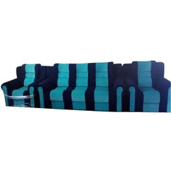 Blue Wood Sofa Set, For In Homes & Offices