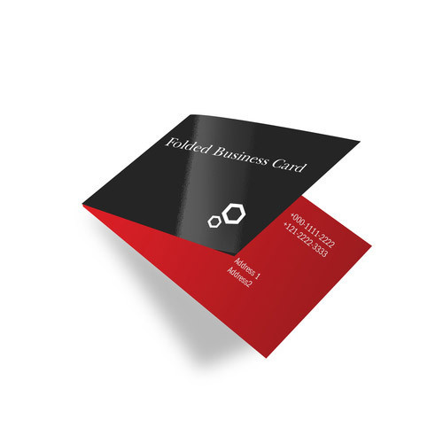 Folded visiting card size 7 x 2 folds to 35 x 2 rs 4 folded visiting card size 7 colourmoves