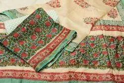 Handblock Printed Chanderi Suit
