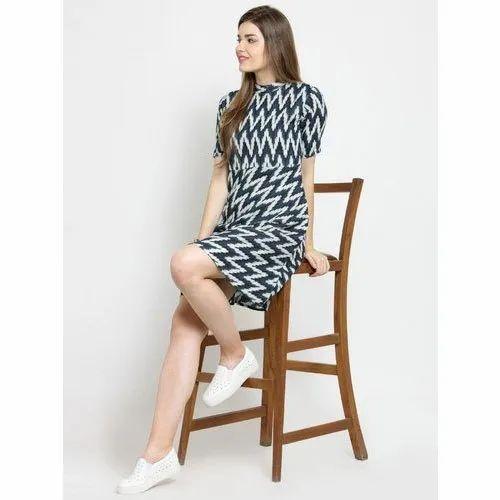Cotton Casual Wear Ladies Knee Length