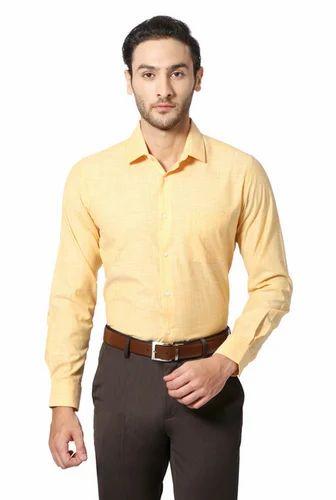 64c323a2c32d Peter England 38   44 Yellow Shirt