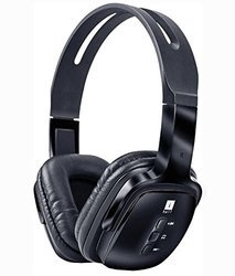 iBall New Mega Bass Pulse BT04 Neckband Wireless Headphones With Mic, Black