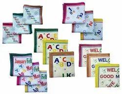 Multicolor Printed Kids Fancy Print Handkerchief, For Regular, Hand & Machine Wash