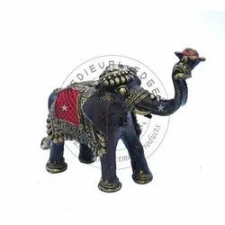 12 Inch Elephant Brass Showpieces, For Decoration