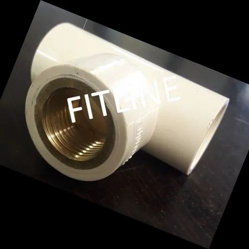 FITLINE CPVC Brass Reducer Tee, Size: 3/4 x 1/2 to 1 X 3/4 inch