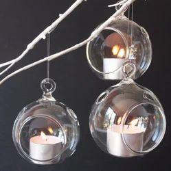 Hanging Glass Ball Tealight Holders