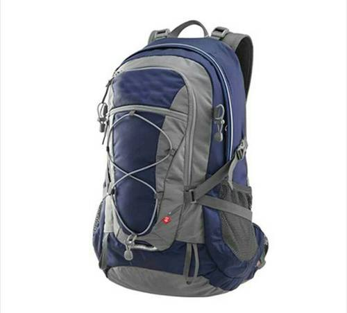 31c1b62f5d Swissikon Blue And Grey Polyester College Bag, Rs 450 /piece   ID ...