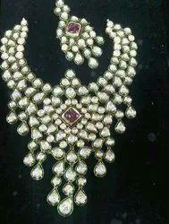 Party Golden Kundan Necklace Set