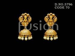 Traditional Matt Jhumka Earrings