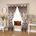 Ravi Exports Digital Printed Abstract Flowery Weave Coffee Curtain