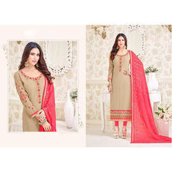 Embroidery Georgette Multicolor Unstiched Suit