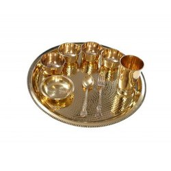 Brass Dinner Plate Set, Packaging Type: Box