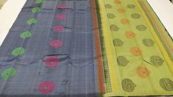 Saiprathik Collections Pure Handloom Kanchipuram Soft Silk Saree