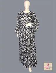 10 Cotton Hand Printed Women's Long Dress India DB16