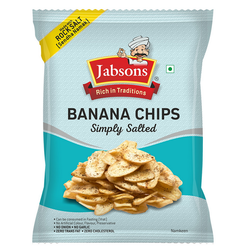 Jabsons Banana Chips Simply Salted, Pack Size (Gram): 150 Gm