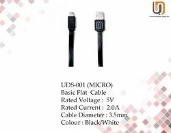 Black & White 1 Meter UDS-001 Basic Flat Cable