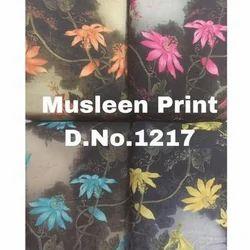 Floral Print Muslin Fabric