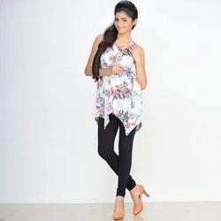 Cotton 96 % + 4% Lycra V Cut Churidaar Ladies Plain Black Legging, Free Size