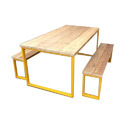 Handicraft Point Wooden Six Seater Canteen Table