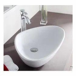 Table Top White Ceramic Wash Basin