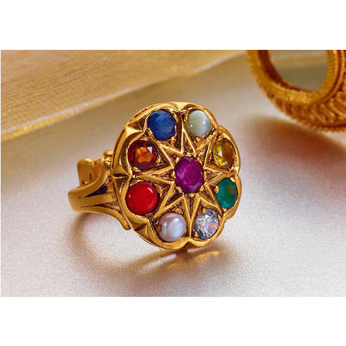 Navratna Gold Ring at Rs piece Navratna Ring
