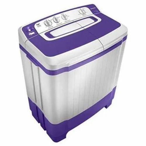 Samsung 8.19 kg Semi Automatic Top Load Washing Machine, WT82M4000HB/TL, White & Purple
