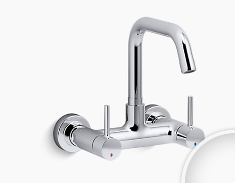 Dual Handle Wall Mount Kitchen Mixer