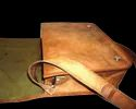 Genuine Leather Flap Messenger Bag