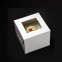 1SP One Cupcake Box with Window & Insert