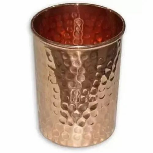 Hammered Copper Glass, Capacity: 500 Ml, for Home