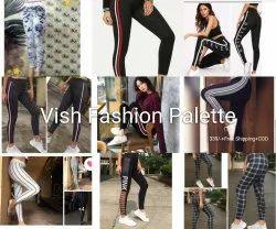Vish Fashion Palette trendy Strectable Cotton Rib Leggings