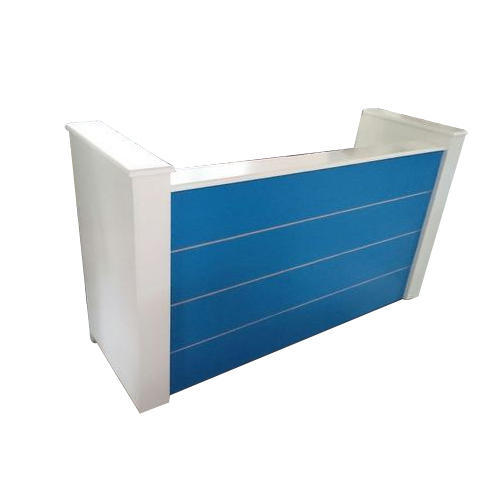 Office reception counter Shape Reception Blue And White Office Reception Counter Indiamart Blue And White Office Reception Counter Rs 8000 piece Ms