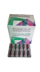 Mecobalamin Alpha Lipoic Folic Acid Vitamin B1 B6 Capsule, Packaging Type: Alu-alu, Packaging Size: 10x10