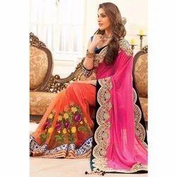 Georgette Wedding Wear Designer Saree