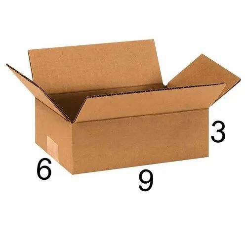 Rectangle 9 x 6 x 3 inch Packaging Corrugated Box
