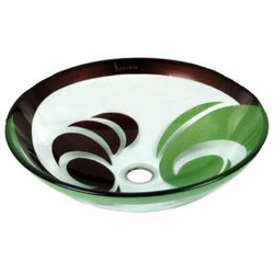 Hand Painted Round Glass Wash Bowl