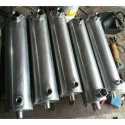 Polished Stainless Steel Shell And Tube Heat Exchanger, Water, 5Celcius