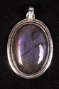 Labradorite With Purple Fire Oval Shape Smooth Cut Pendant,Gemstone Pendant