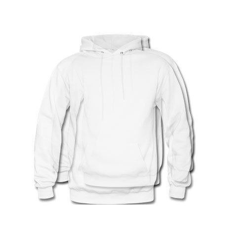 Cotton Plain White Hoodies