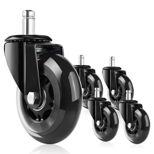 Corvids 3 Inch Rollerblade Pu Type Rubber Caster Wheel For Office Chair Universal Fit At Rs 1100 Set Dhaulai Jaipur Id 21636932862