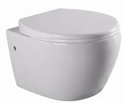 White Open Front Wall Hung Toilet for Home