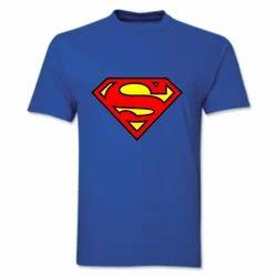 Cotton Sona-Superman Printed T-Shirt, Size: S-XL