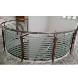 SS Balcony Glass Railing