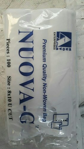 Nuova-G U Cut Non Woven Bags, Bag Size: 8x10, for Shopping