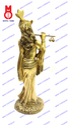 Lord Krishna Standing w/ Shawl On Rd. Base Statues