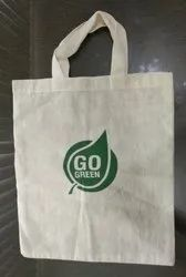 Handled White/ Grey Cotton Carry Bags, for Shopping