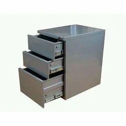Grey Steel Storage Drawers