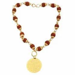 Rudraksha Cap Bracelet With Sri Yantra Charm